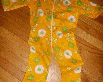SALE Girls toddler Flower Power retro 60's romper jumpsuit 2-3 T~100% cotton