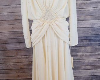 Vintage Pia Rucci Pearl Gown