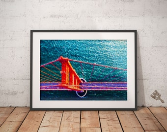 Golden Gate Bridge From Above Painting Print