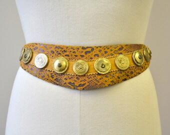 1990s Leatherock Studded Leather Belt