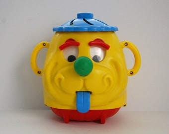Vintage Kohner Bros Toy, Busy Faces, Baby Toys, 70's Kitsch Dog Face Toy