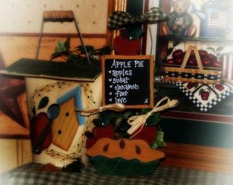 Apple Pie Recipe Country Wall Hanging Apples Decor Door Sign