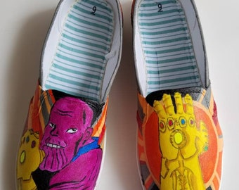 Thanos and the Infinity Gaunlet shoes