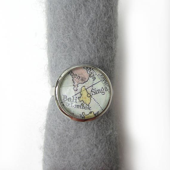 Personalized World map ring - Oceania variations