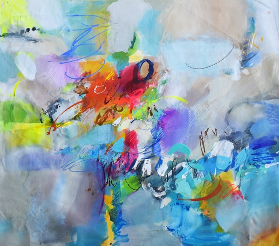 Abstrakte Acrylmalerei Acryl-Gemälde große Wand Kunst