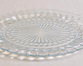 Sapphire Blue Bubble Platter Anchor Hocking Serving Platter