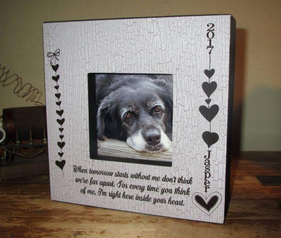 Pet Frame memory frame Personalized in loving memory of pet