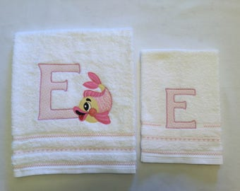 Couple towels with initials