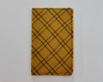 Mustard and Brown Plaid Mini Wallet