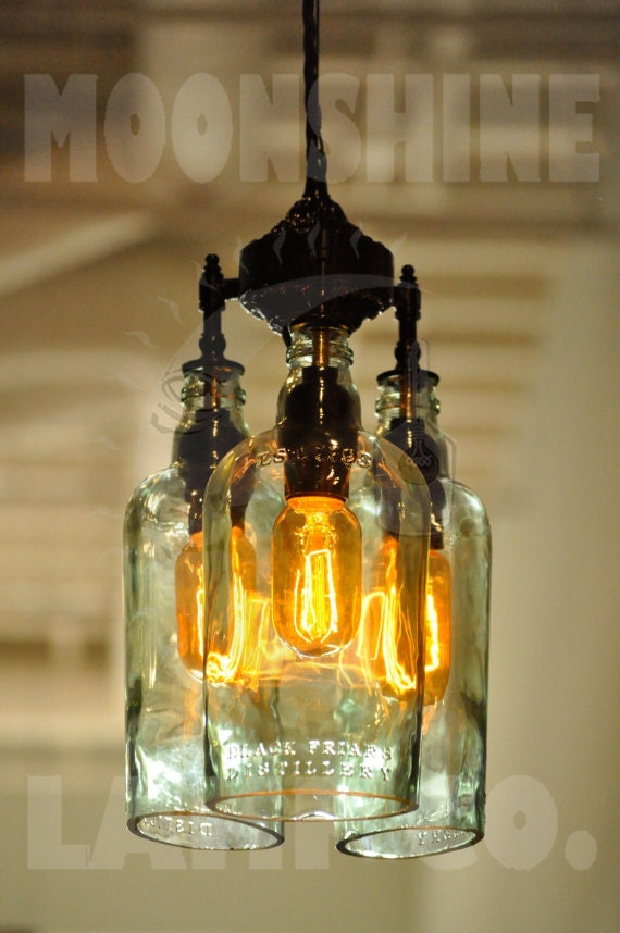 Recycled bottle chandelier the marquis gin like this item aloadofball Choice Image