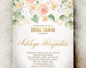 Country Bridal shower Invitation - Rustic bridal shower, wedding shower invite, Bridal Shower invitation printable