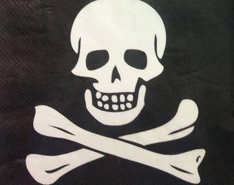 Paper patterns skull towel