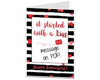 Anniversary Card. Funny Anniversary Card. Alternative POF Anniversary Card. Anniversary Card Husband Boyfriend. Anniversary Card Wife GF
