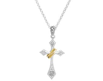 Memento Mori Cross Pendant Necklace