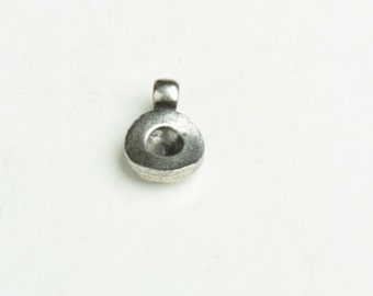 stone setting round bezel 5mm setting with loop on top , 6 each 13801