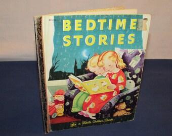 Little Golden Book BEDTIME STORIES 1980 Original Printing in 1942