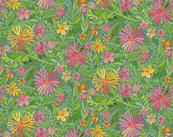 Meadow Daydream Blue - Sugar & Spice - Cori Dantini - Blend Fabric 100% Quilters Cotton 112.118.03.1