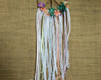 Floral Peace Dream Catcher