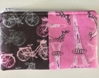 A Ride to Paris Zip Pouch