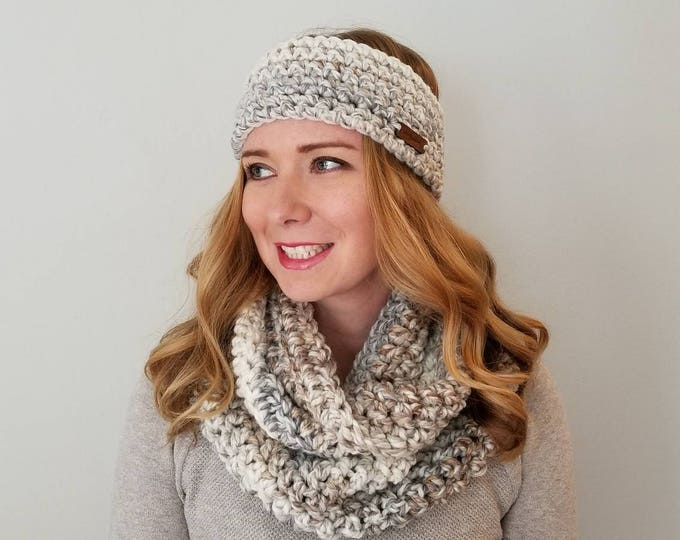 Featured listing image: Haymarket Head Warmer and Sutherland Infinity Scarf Bundle - Fossil - Scarf Set