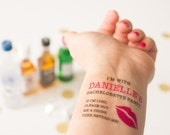 Bachelorette Temporary Tattoos,  If Lost, Buy Me a Drink, Kiss Lips, Personalized Tattoos, Kiss Tattoo, Bachelorette Party Favor