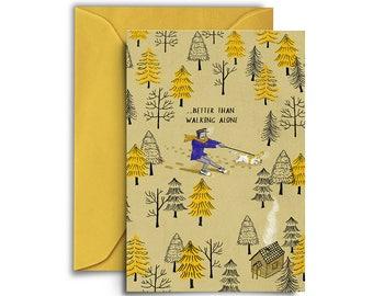 Forest walk winter card