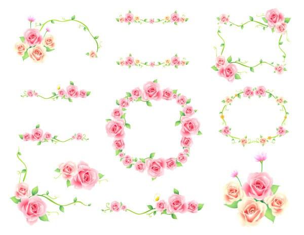 Digital flower frame clipart pink frame clip art pink floral zoom mightylinksfo Images