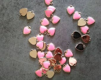 Pink heart hanging or sew