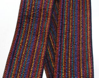 "Woven Ribbon - 3 1/2"" x 1 yards Multi Color Striped Ribbon"