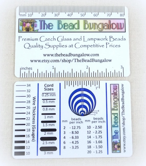 Jewelry makers tool measuring guide tool for measuring beads jewelry makers tool measuring guide tool for measuring beads wire cord beads per inch centimeters millimeters gauges from thebeadbungalow on etsy greentooth Image collections