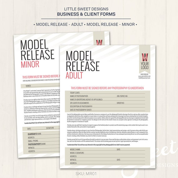 Photography Model Release Forms Adult U0026 Minor Photoshop