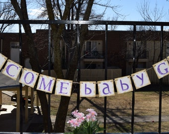 Baby Shower Banner  WELCOME BABY - Customize your name Photo Prop Customize Your Name