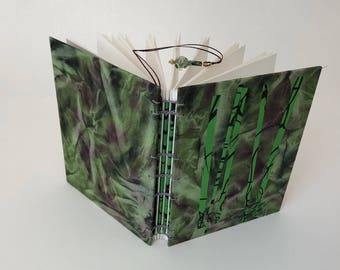 Handbound book, coptic binding, handmade paper, journal, sketchbook, photo album