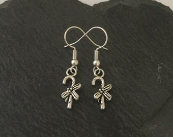 Candy cane earrings / candy cane jewellery / Christmas earrings / Christmas jewellery / Christmas gift / stocking fillers / secret santa