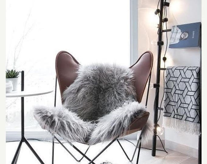 Genuine Natural Icelandic Sheepskin Rug | Sheepskin throw | Chair Cover |Super Soft Rug| Scandinavian Style | Scandinavian Rug