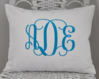 Monogrammed Pillow Cover Baby Gift Shower Gift Wedding GIft Choose Your Size and Style