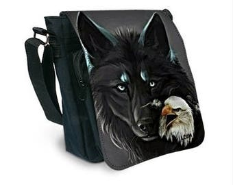 Wolf and Eagle pattern bag