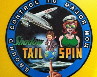 Recycled Record - Ground Control To Major Mom, Altered art, collage, Fantasy, Pop Art