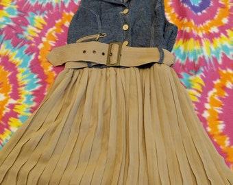 Women's dress with demin top