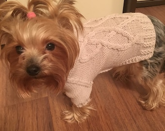 Sweater for dog; knitted dog sweater; dog sweater;dog jumper pattern; dog clothes; dog clothing; sweters for dogs; small dog jackets;