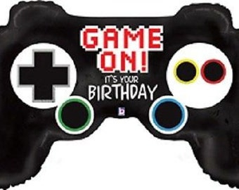 "Game Controller Balloon Jumbo Balloon 36"" Video Game Controller Birthday Balloon Xbox Playstation"