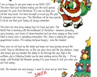 Jungle jill a little girl is poem personalized ultrasound 8 uprint babys 1st letter from santa claus at the north pole printable from the pen of spiritdancerdesigns Choice Image