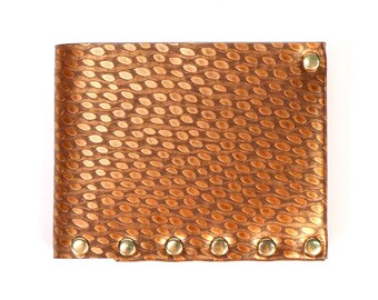 Copper Ostrich Wallet | Mens Wallet | Wallet | Bi-Fold | Card Holder | Durable Wallet | Money Holder | Wallet | Vegan Wallet | Made in USA