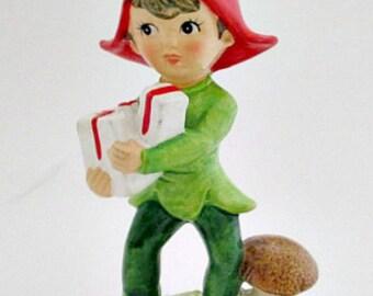 Vintage Christmas Elf Figurine - Christmas Decoration