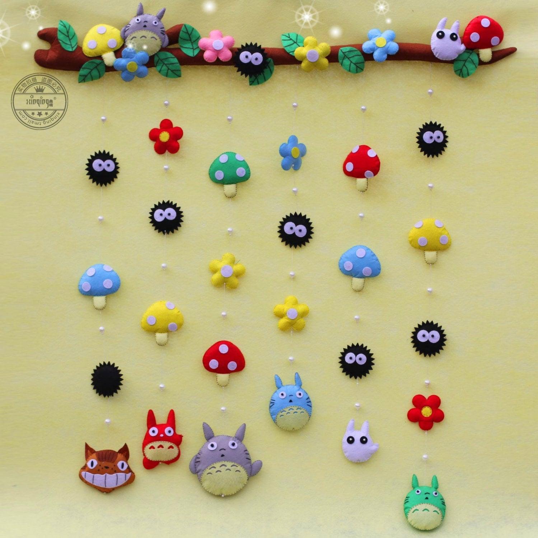 Totoro Felt Curtains Door Beads / Hanging Screen / Plush