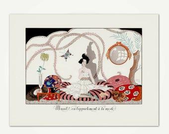 Georges Barbier Illustration Print - Minuit! ou l'appartement à la mode Vintage Art Deco Engraving