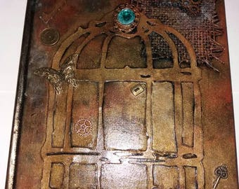 Steampunk Victoriana Gothic alternative themed lined journal, notebook