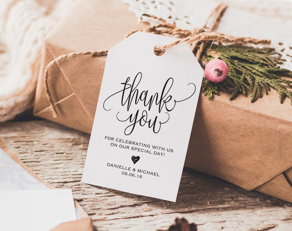 Thank You Card Wedding Gift: Thank You Tag Wedding Thank You Tags Gift Tags Wedding