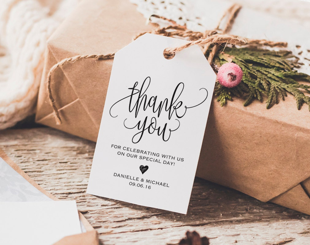 Thank You Tag Wedding Thank You Tags Gift Tags Wedding
