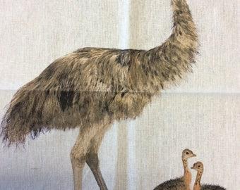 Emu Family teatowel